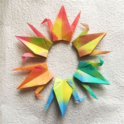 1000 Crane Origami - 1000 6 quot gradient origami cranes senbazuru