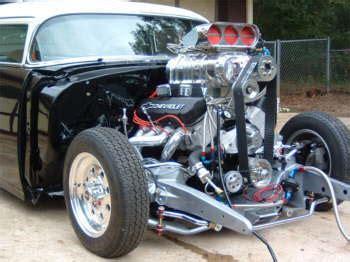 Build 2 Car Garage greg cape s pro street 55 chevy hotrod hotline