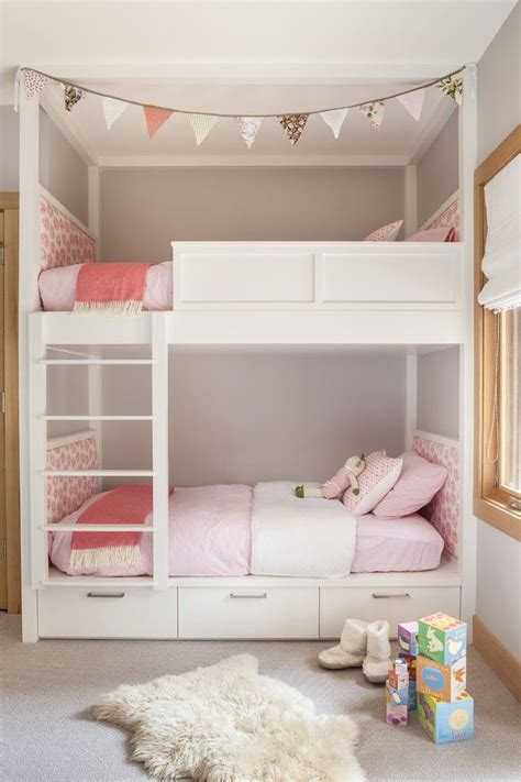 pink girls bedroom with ikea stockholm rug transitional the 25 best midcentury bunk beds ideas on pinterest