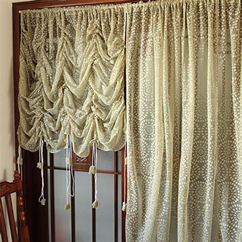 Sheer Balloon Curtains Rustic Lace Curtains Adjustable Balloon Sheer Curtains Sunflower Voile Curtain Ebay