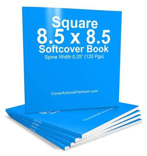 120 Pages Square 8 5 X 8 5 Softcover Book Mockup Cover Actions Pt 1 Cover Actions Premium 5 5 X8 5 Booklet Template