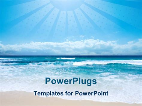themes for powerpoint seaside powerpoint template beach and sea with light blue sky and