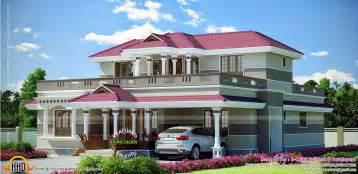 2389 Sq Feet Modern Mix House Elevation Kerala Home Modern Mix Floor House Plans