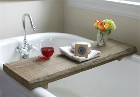bathtub wood caddy 20 awesome things to build with reclaimed wood