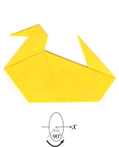Easy Origami Duck - how to make a traditional origami duck page 6