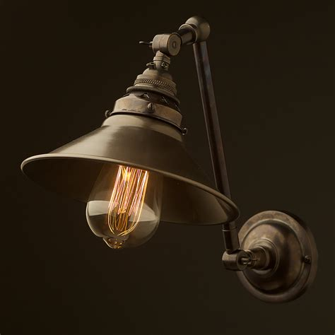 Wall Sconce by Bronze Adjustable Arm Wall Sconce Shade