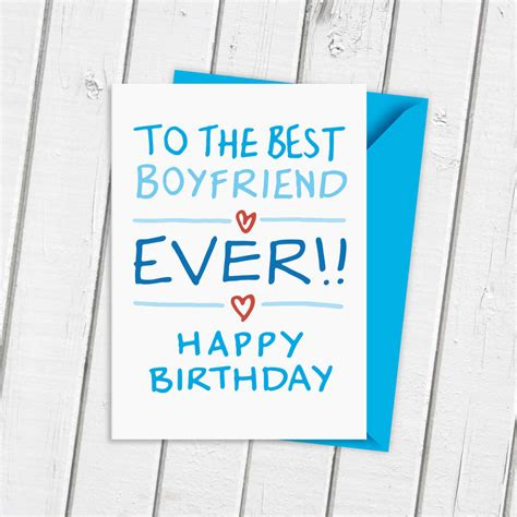 for boyfriend boyfriend birthday card