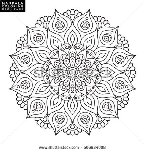 libro lovely mandalas beautiful patterns flower mandala vintage decorative elements oriental stock vector 506984008 shutterstock