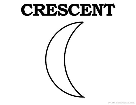Crescent Shape Worksheets For Preschoolers by Printable Crescent Shape Preschool Crescents Shape And Crescents