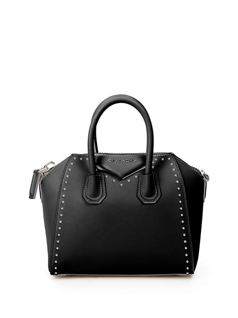 New Givenchy Antigona Studded givenchy antigona mini studded leather satchel in black lyst