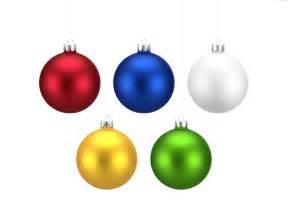 colorful christmas balls set png psdgraphics