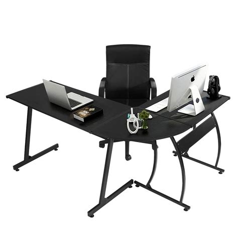 greenforest l shape corner computer office desk corner laptop table image collections bar height dining