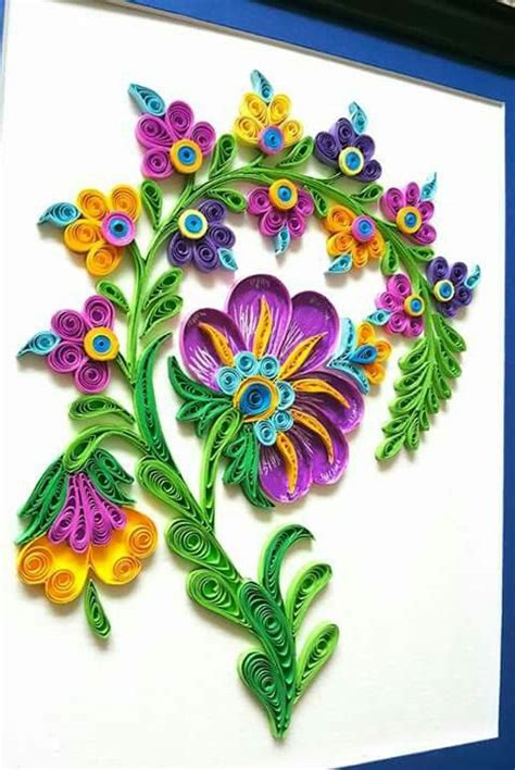 quilling tutorial facebook bright floral piece quilled by jennifer stacey
