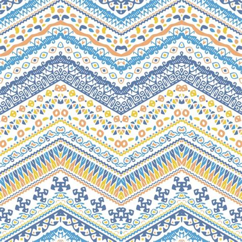 tribal pattern pastel blue ethnic pattern with zigzag vector free download