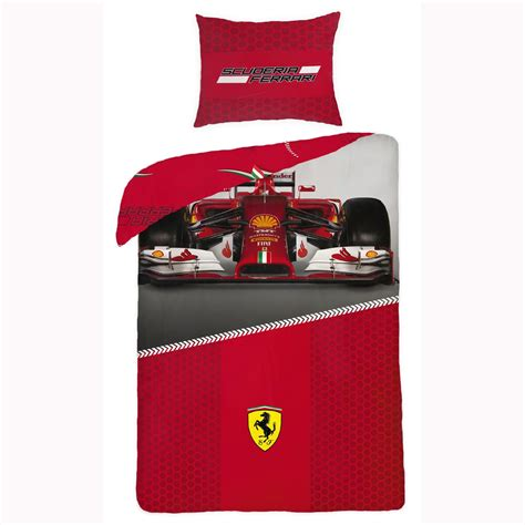 Red Super King Size Duvet Covers Ferrari Formula One 100 Cotton Duvet Cover F1 New Car