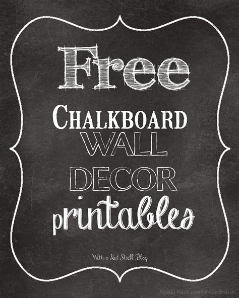 Printable Chalkboard Art | 8 best images of chalkboard art free printables free