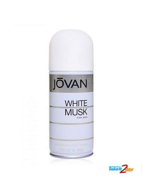 Jovan White Musk For jovan white musk deodorant spray for 150 ml jowh01