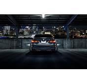BMW M3 F80 Matte Black Car Rear View Night City 4k Laptop