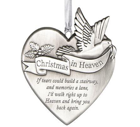 christmas in heaven memorial ornament