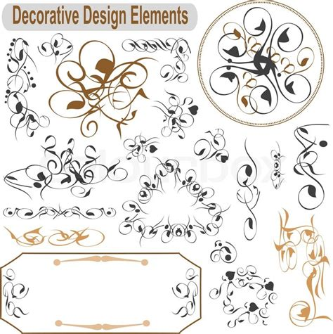 vector wedding design elements and calligraphic page decoration vector set calligraphic design elements and page