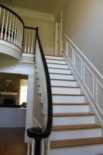 Painted Staircases Black Vs White Option 2 White Painted Balusters Black Painted Newel