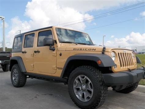 jeep gold gold jeep wrangler unlimited rubicon used cars mitula