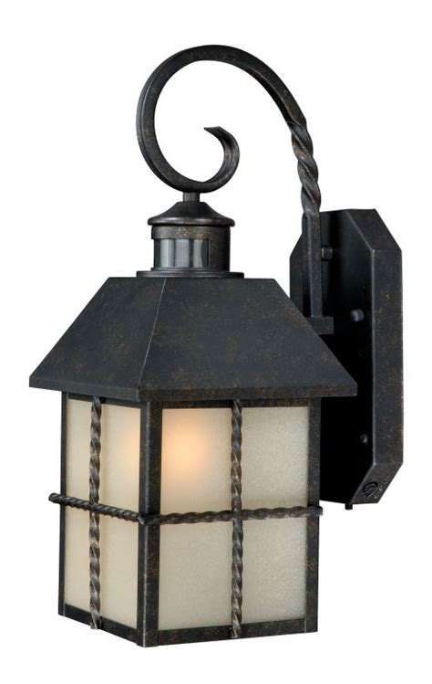 Vaxcel Lighting T0026 Gold Stone Savannah Smart Lighting Outdoor Lighting With Photocell