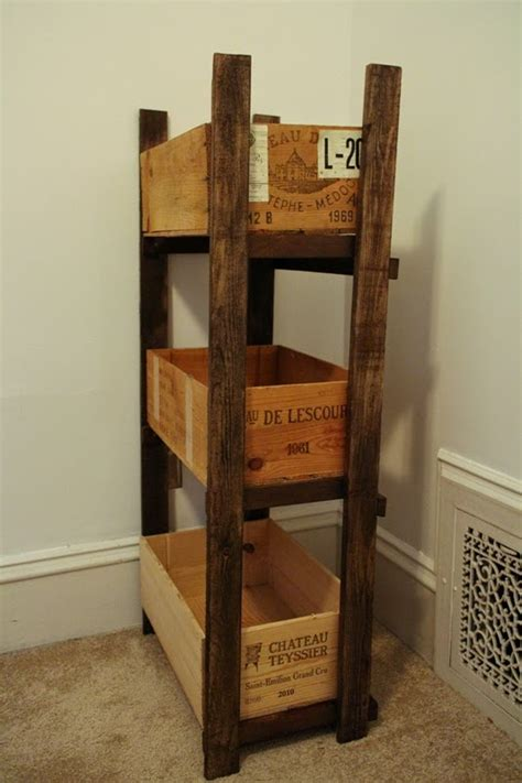 Wine Crate Shelf by Sweet Inspired Home Wine Crate Shelf For Fabric Storage