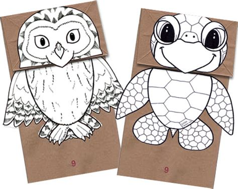 free printable paper bag puppet templates free paper puppet patterns 171 free patterns