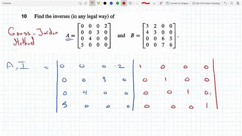 Find the inverse of a 4 x 4 matrix using Gauss Jordan ... C- 4x4 Matrix Inverse