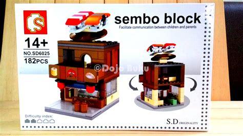 Mainan Lego 1 Set Dalam Box jual set lego bangunan toko apotik restaurant sushi 4 box