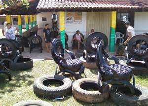Car With Tires Made Of Sofas Made Of Recycled Car Tires Bored Panda