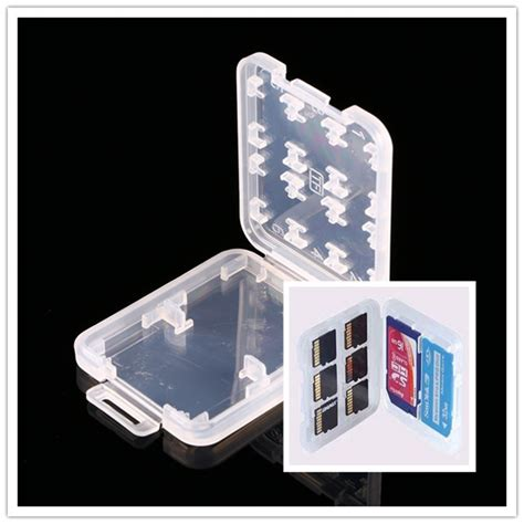 Holder Plastic Storage Box For Memory Card 4 Comp Limited 8 in 1 plastic for micro sd tf memory card storage
