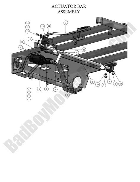 Actuator 2 Position Bed bad boy parts lookup 2010 pup and lightning actuator bar