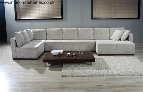 Cowan Large U Shape Sectional Sofa in Microfiber Cafe or Mocha Covers   S3NET   Sectional sofas