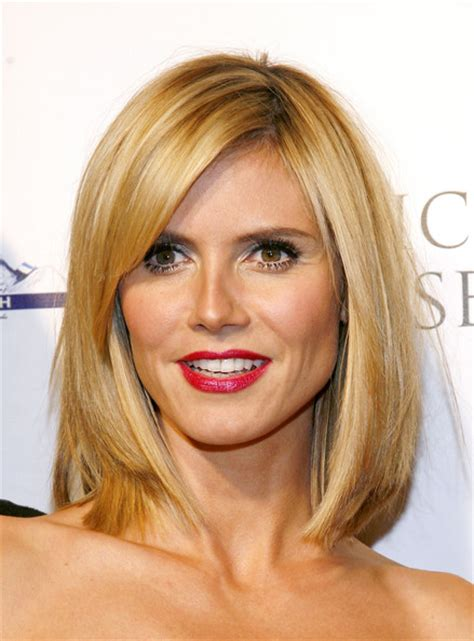 medium haircuts heidi klum heidi klum with medium hair hair styles from a salon