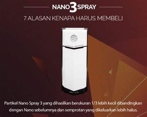 Harga Resmi Secret kelebihan nano spray mci asli mci mgi resmi mci