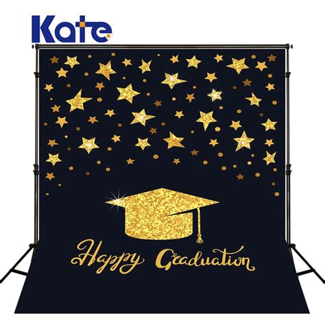 kate xft photography background black  golden backdrops high school graduation party