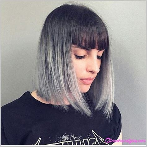 pictures of bob haorstyles with bangs front and back of hair long bob haircuts with bangs allnewhairstyles com
