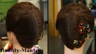juda hairstyle steps hair juda style step by step simple and beautiful hair