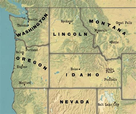 map of oregon idaho border nationstates the pacific republic of cascadia columbia