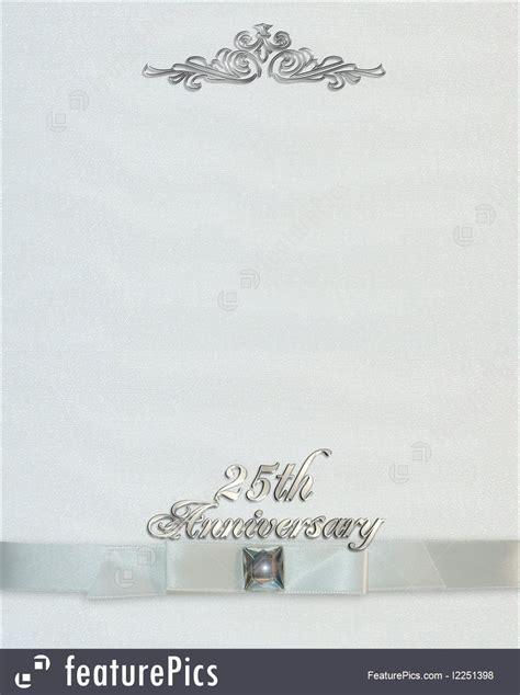 Templates: 25Th Wedding Anniversary Invitation   Stock