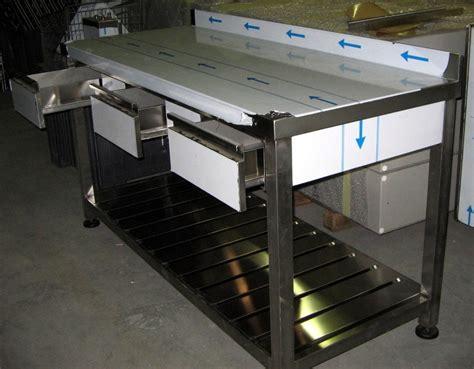 tavoli con cassetti foto tavolo con cassetti per cucina ristorante di rimoldi