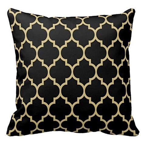 gold pattern pillow chevron pattern black gold moroccan quatrefoil design