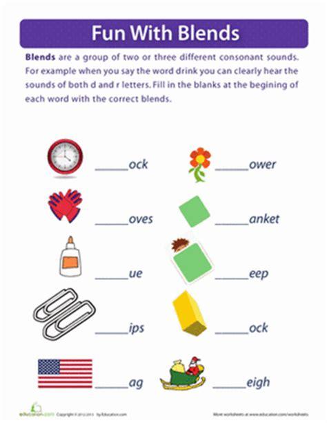 L Blend Worksheets by L Blends Worksheet Education