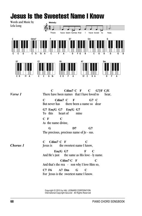 guitar tutorial in jesus name jesus is the sweetest name i know sheet music direct