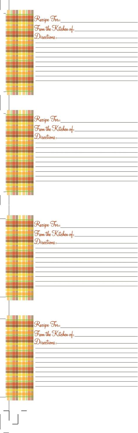 thanksgiving recipe card template 426 best images about recipe cards templates on