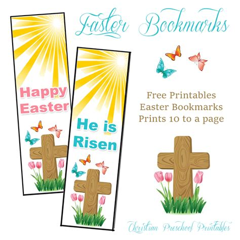 printable religious easter bookmarks easter cross bookmarks