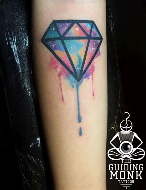 watercolor tattoo diamond best artist in kolkata india debanjali das