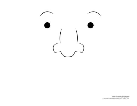 free printable eyes nose mouth printable nose template www imgkid com the image kid